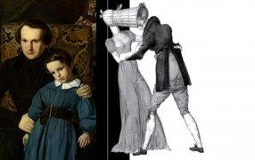 Виктор Гюго в 1836 году (портрет Огюста Шатийнона) и фрагмент обложки / Wikipedia, nlobooks.ru