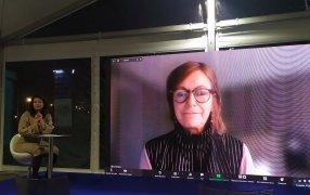 Беседа со Сьюзи Эрзахин, директором премии памяти Астрид Линдгрен, состоявшаяся в рамках ММКЯ / Фото: Елизавета Портная