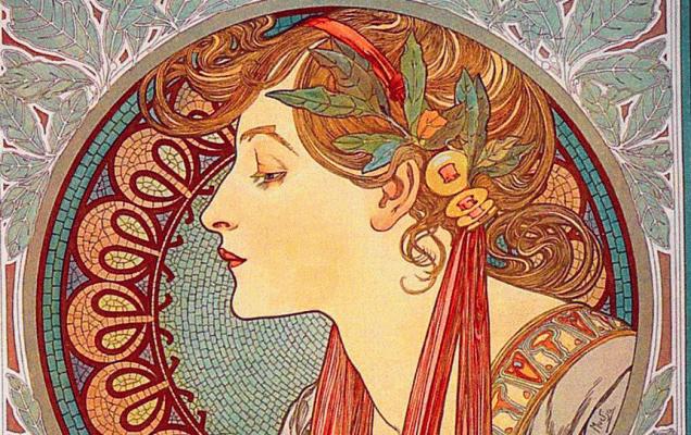 Альфонс Муха 'Лавровый венок'. 1901 / Википедиа