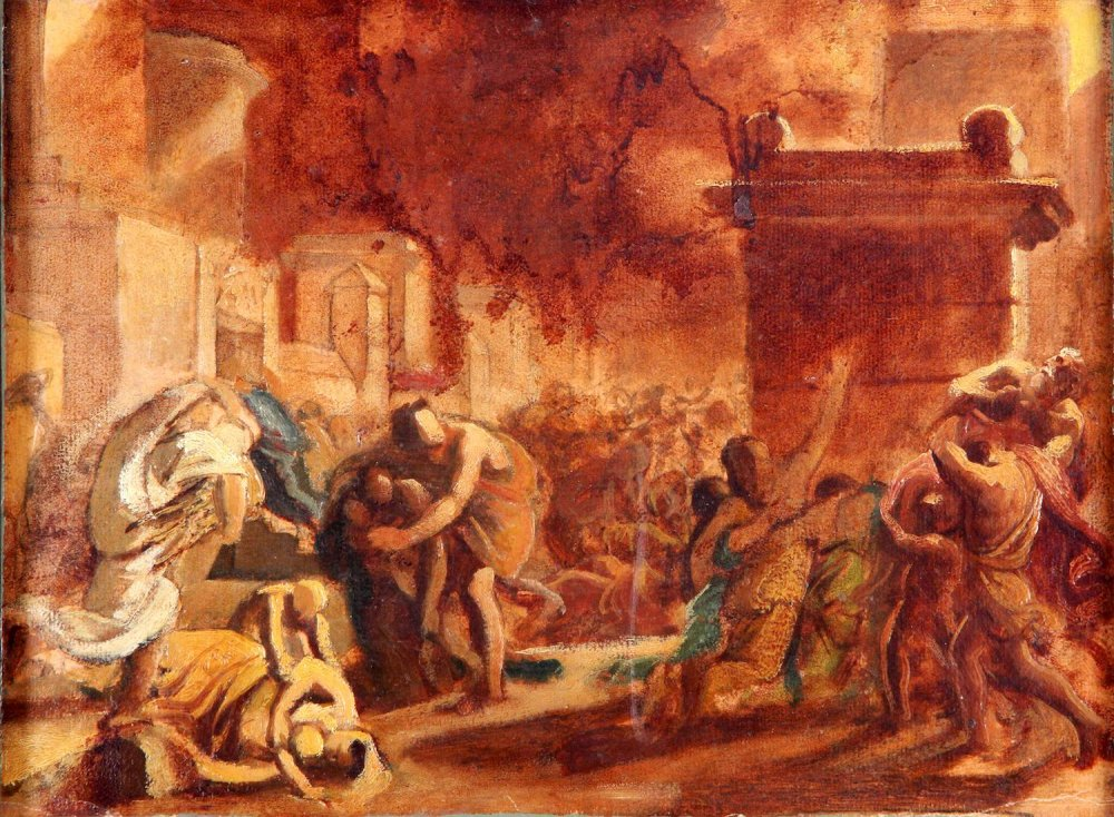 Брюллов К.П. Эскиз к картине 'Последний день Помпеи'_1827