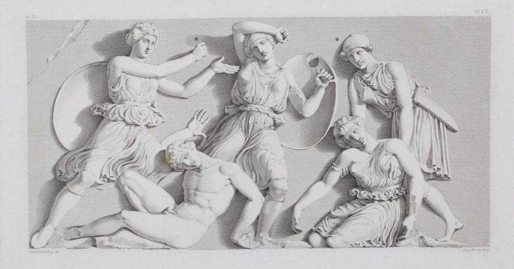 Маркетти_из цикла Битва греков с амазонками_19 век