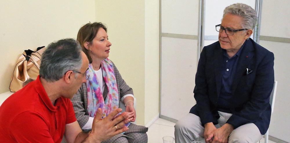Зульфю Ливанели, Михаил Визель и Аполлинария Аврутина на «Красной площади»