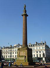 Scott Monument in Glasgow's George Square
