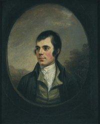 The best-known portrait of Burns, by Alexander Nasmyth, 1787 (detail)