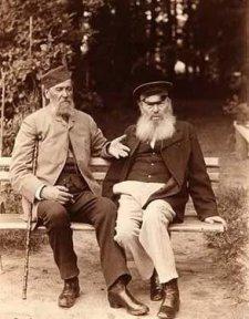 Яков Полонский у Афанасия Фета в Воробьёвке. 1890 год