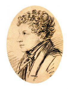 Л.С. Пушкин. Рисунок А.О. Орловского. 1820-е гг.