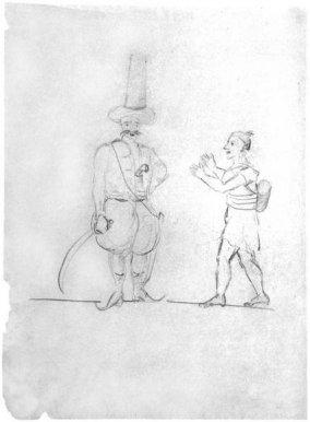 Турецкие мотивы. Рисунок А.С. Пушкина. 1829