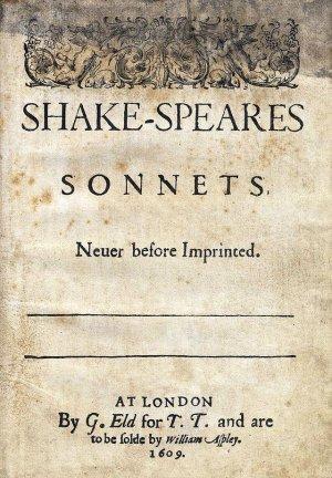 Титульная страница издания сонетов Шекспира 1609 года