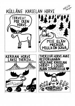 Сытый карельский лось комикс
