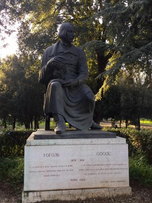памятник гоголю в риме
