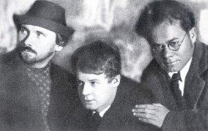 Н. Клюев, С. Есенин, Вс. Иванов