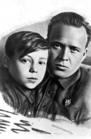 Аркадий Гайдар с Тимуром