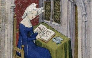 Кристина Пизанская преподносит свою книгу королеве Изабелле Баварской. Из рукописи XV века