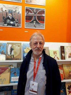 Игорь Олейников на ярмарке в Болонье