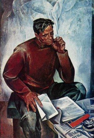 Широков-Е.-Н.-Портрет-писателя-В.-П.-Астафьева.-1969