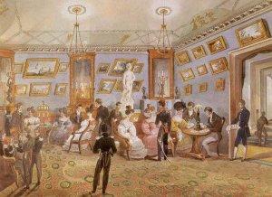 Неизвестный художник. Великосветский салон. 1830-е гг.