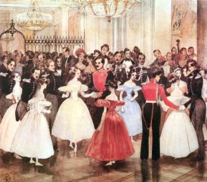 Г.Г. Гагарин. Бал у княгини М.Ф. Барятинской, 1830-е гг.