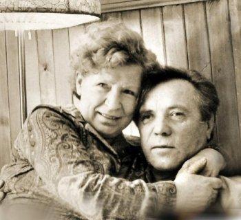Астафьев с женой