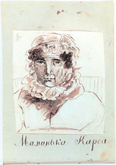 Н.И. Гончарова. Рисунок А.С. Пушкина. 1829