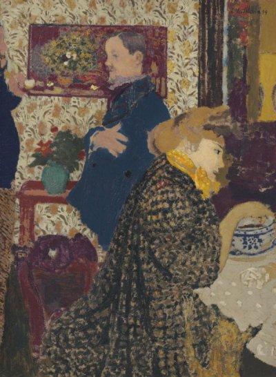 Жан Эдуар Вюйяр - Мизиа Натансон и Феликс Валлоттон в Вильнёве - 1899