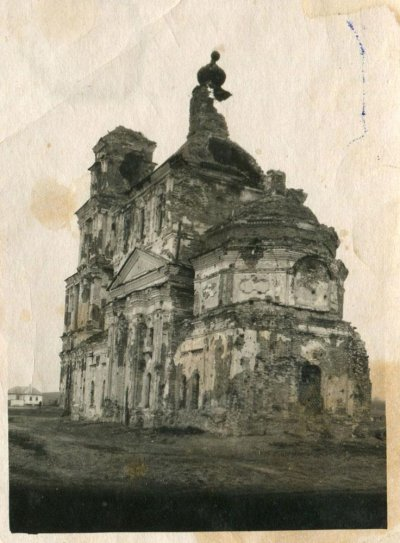 Анно-Зачатьевская церковь в Топлинке после войны.