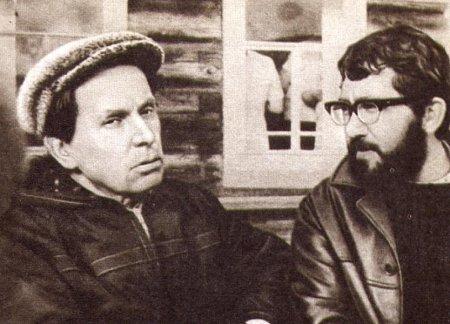 Лев Додин и Федор Абрамов в родном селе писателя