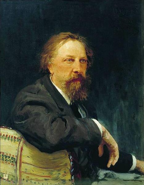 А.К.Толстой. Портрет работы И.Е.Репина, 1896 г.