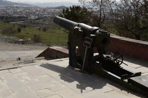 Артиллерийское орудие – часть укреплений форта на горе Топ-Даг. Фото: Сергей Дмитриев