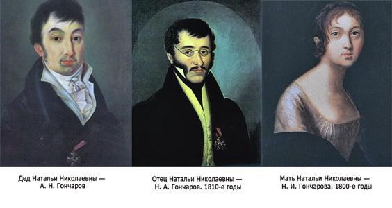 Дед, отец, мать жены Пушкина