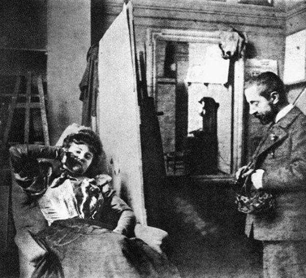 Мизиа в студии Анри де Тулуз-Лотрека - 1895 - Фото Жан Эдуар Вюйар