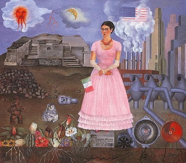 """""""На границе  между США и Мексикой"""" www.fridakahlofans.com"""