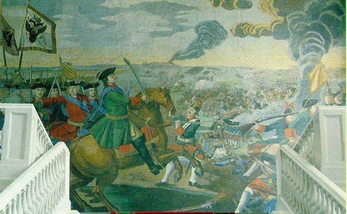 Михаил Ломоносов (1711-1765). Полтавская баталия. Мозаичное панно. 1764г.