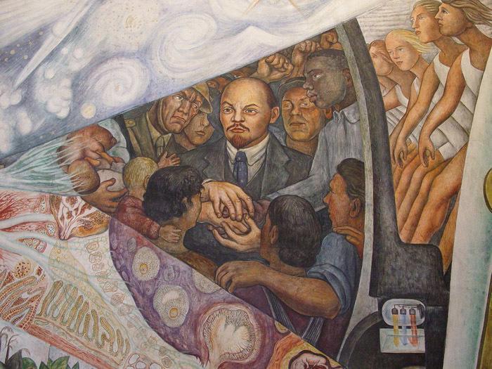 Диего Ривера. Фрагмент фрески «Человек, управляющий Вселенной». 1934. Дворец изящных искусств, Мехико