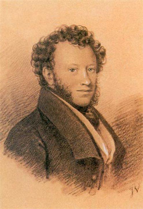 Прижизненный портрет Пушкина, 1826, Иосиф-Евстафий Вивьен