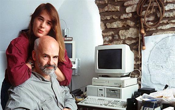 Терри Пратчетт с дочерью Рианной