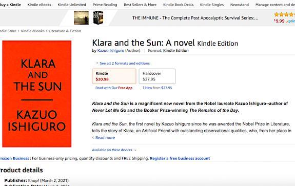 Клара и солнце новый роман Исигуро