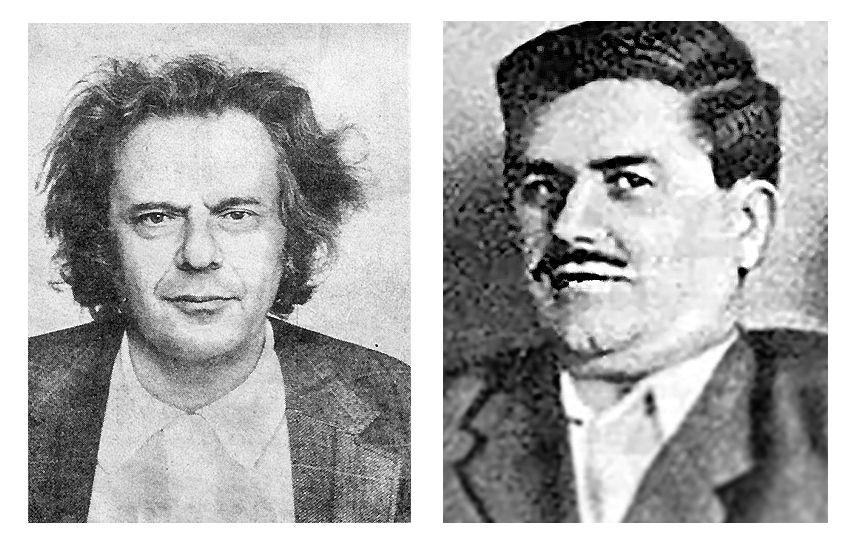 Журналист Евгений Михайлович Богат (слева) и поэт Эдуард Робертович Гольдернесс / wikipedia.org