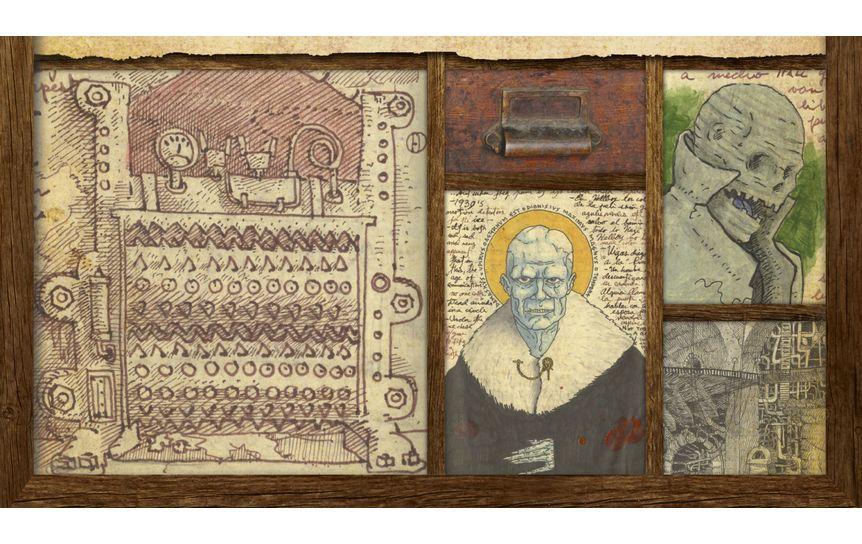 Фрагмент обложки книги Гильермо дель Торо «Кабинет редкостей» / 'Азбука-Аттикус'