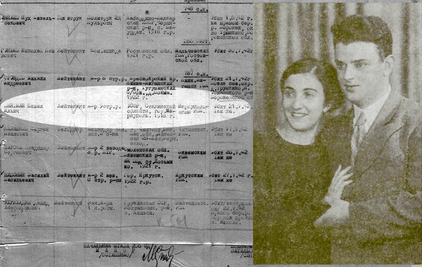 Зинаида Сагалович и Павел Винтман. Киев, 1939 г.