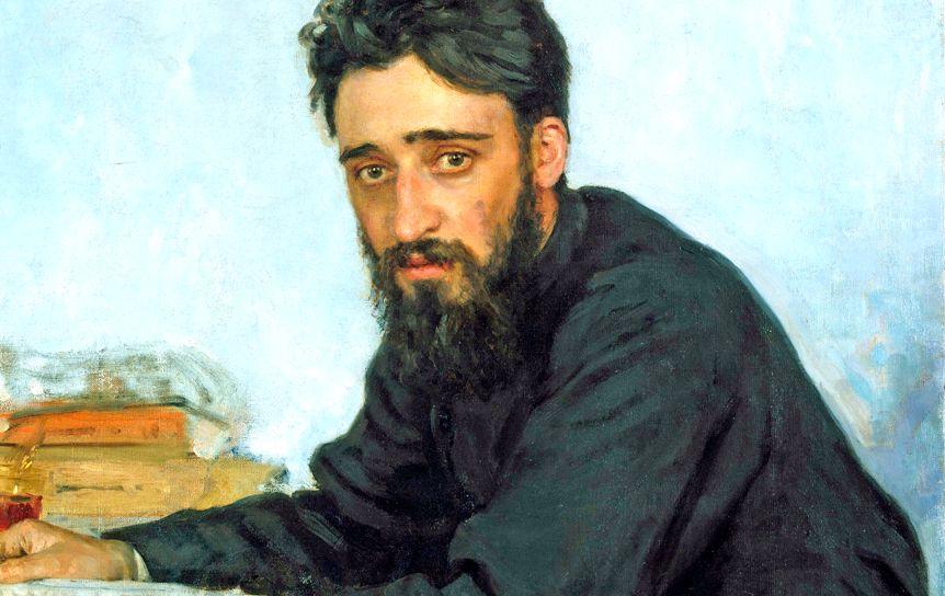 Фрагмент  Ильи Репина 'В. М. Гаршин. Портрет', 1884. Музей Метрополитен, Нью-Йорк