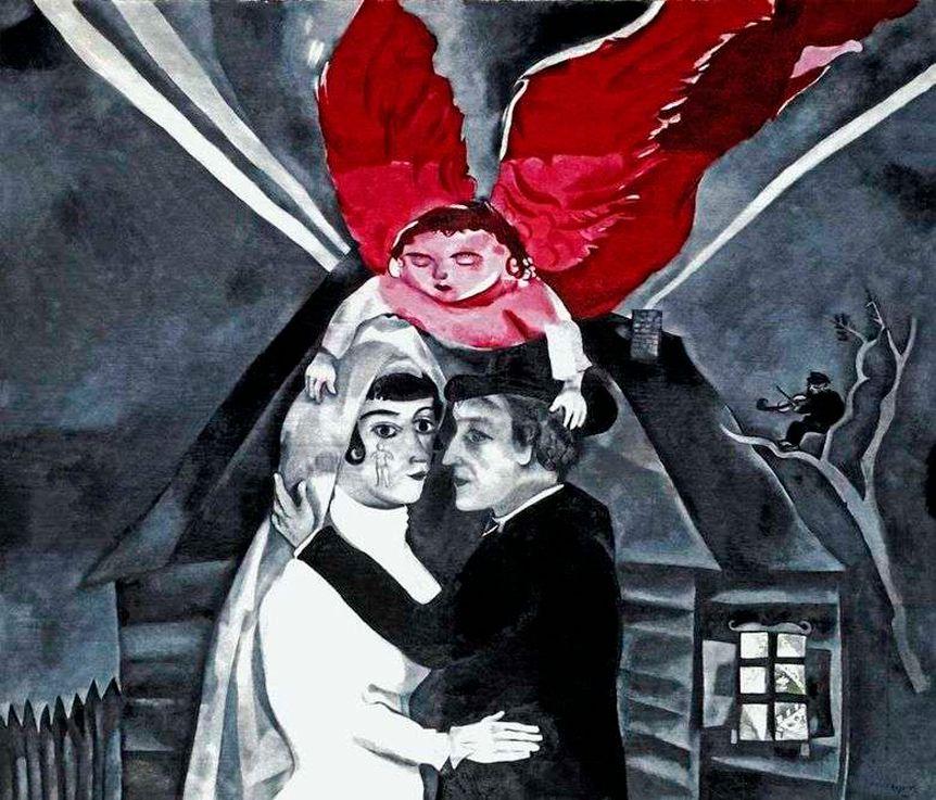 Марк Шагал «Венчание», 1918