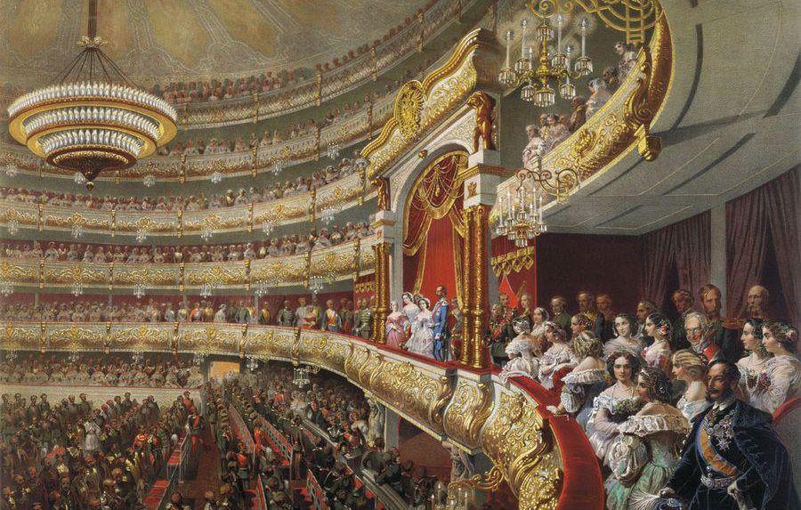 Михаил Зичи, Спектакль в московском Большом театре по случаю священного коронования императора Александра II / flickr.com