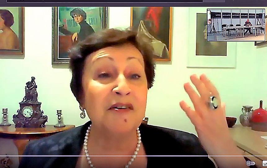 Дина Рубина рассказала о новой книге на non\fiction / скриншот экрана трансляции Youtube