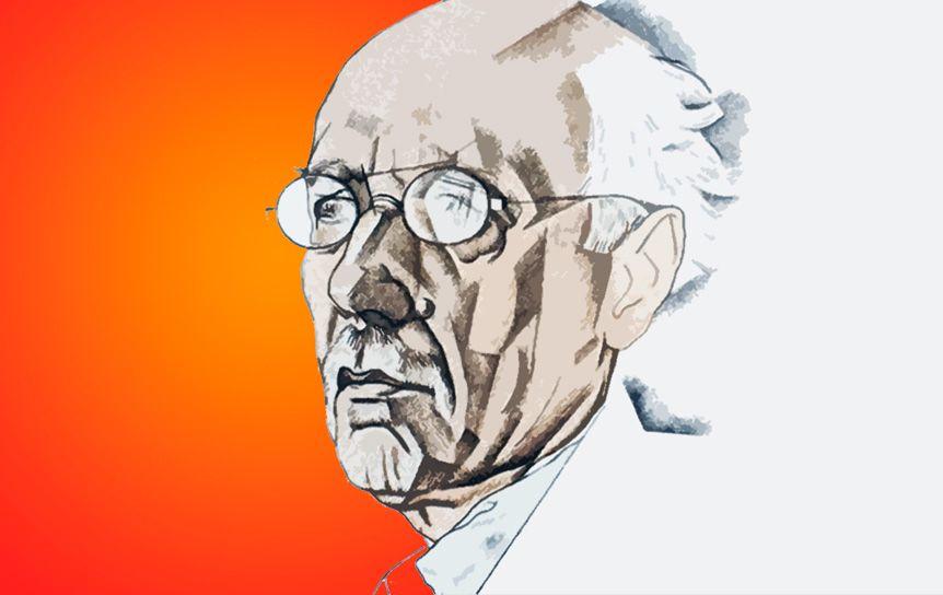 Ю. Анненков. Портрет Федора Сологуба.