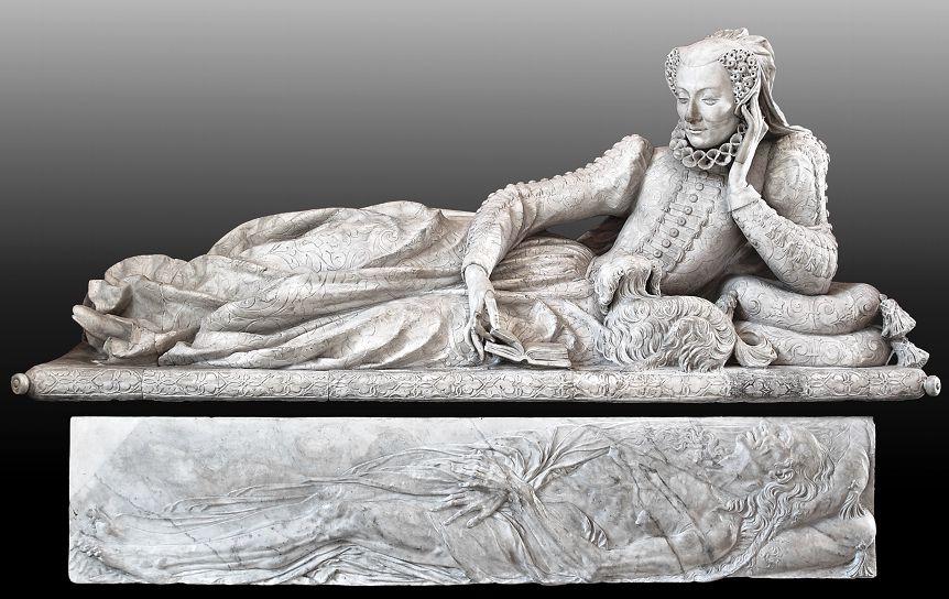 Жермен Пилон. Валентина Бальбиани, после 1583, 83 х 191 см, Лувр. / commons.wikimedia.org
