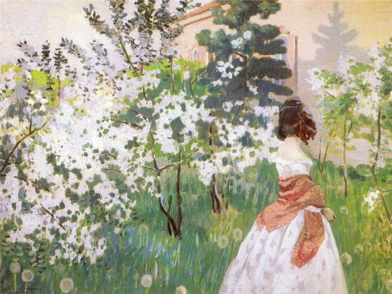 Виктор Борисов-Мусатов Весна. 1898-1901 гг. / Wikimedia