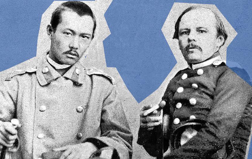 Ф. М. Достоевский и Чокан Валиханов в мае 1859 года, г. Семипалатинск. / fedordostoevsky.ru
