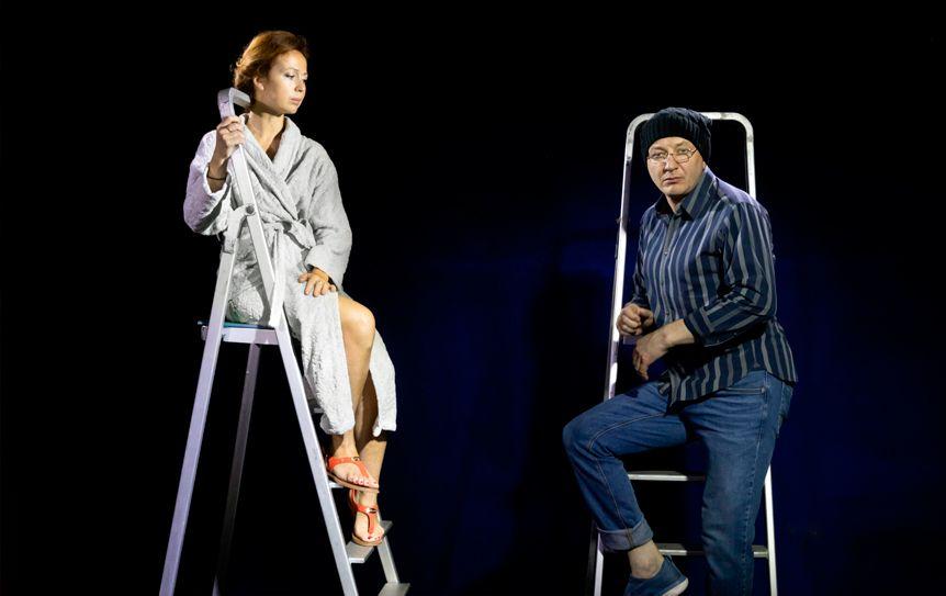 Спектакль 'Город' Евгения Гришковца вернулся на сцену 'Школы современной пьесы' / Предоставлено Театром 'Школа современной пьесы'