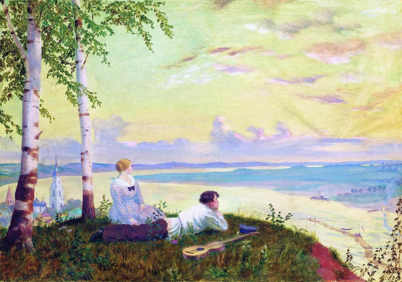 «На Волге», 1922 год.  Борис Михайлович Кустодиев / wikimedia