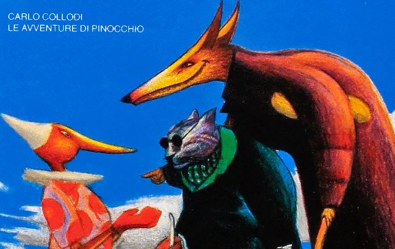 Седьмого июля 1881 года в римской «Газете для детей» началась публикация книги Карло Коллоди «Приключения Пиноккио /  Иллюстратор Mattotti Lorenzo - Приключения Буратино/Пиноккио/kids-pix.blogspot.com